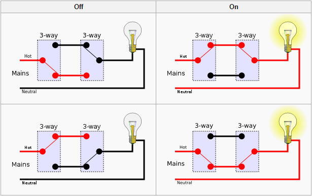 3 Way Switching Wiring Diagram Wiring Diagrams Sapp