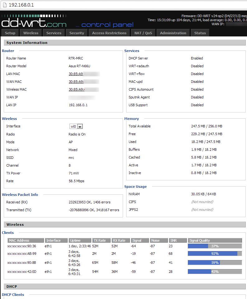 dd-wrt v3.0-r33675m firmware guest access