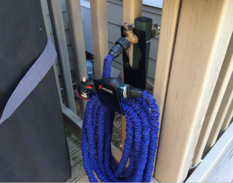 Install a garden hose spigot anywhere with a custom length hose