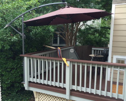 Mount A Deck Umbrella To Save Space Home Automation Guru