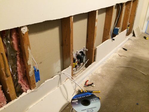 Running speaker wire behind crown molding